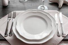 Articoli della Tabella nel ristorante immagini stock