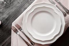 Articoli della Tabella nel ristorante fotografie stock libere da diritti