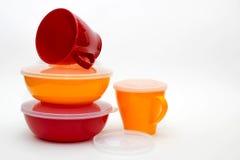 Articoli di plastica colorati Fotografie Stock