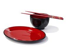 Articoli per la tavola asiatici Immagini Stock