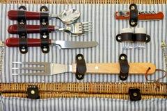 Articoli per la tavola di picnic Fotografie Stock