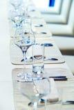 articoli per la tavola di vetro Fotografia Stock