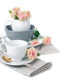 Articoli per la tavola per tè Fotografie Stock