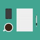 Articoli per ufficio o strumenti di affari Immagine Stock Libera da Diritti