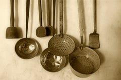 Utensili antichi della cucina foto stock - Iscriviti Gratis