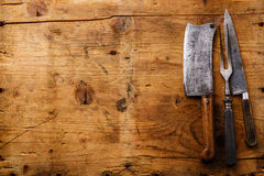 Articolo da cucina d'annata su fondo di legno immagine stock libera da diritti