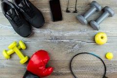 Articolo sportivo per forma fisica fotografia stock libera da diritti