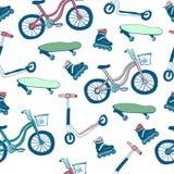 Articolo sportivo a ruote modello senza cuciture di vettore Fotografia Stock