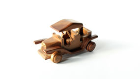 ARTICRAFT DREWNIANY samochód Zdjęcia Stock