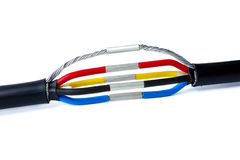 Articulación trifásica del cable Imagen de archivo libre de regalías