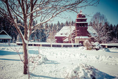 Articular wooden church, Slovakia Royalty Free Stock Photos