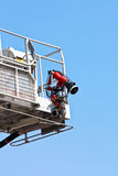 Articulated aerial hydraulic platform Stock Image