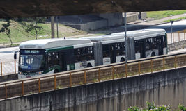 Articulated bus Royalty Free Stock Image