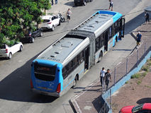 Articulated bus Stock Photo