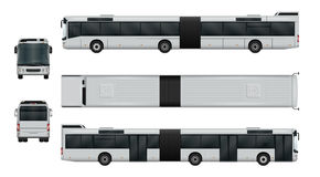 Articulated city bus set Royalty Free Stock Photo