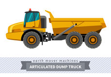 Articulated dump truck for earthwork operations Stock Photo
