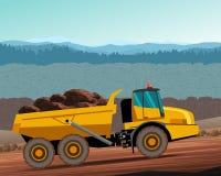 Articulated hauler dump truck Stock Photo
