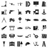 Articulated lorry icons set, simple style. Articulated lorry icons set. Simple set of 36 articulated lorry vector icons for web isolated on white background Royalty Free Stock Photography