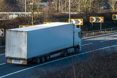 Road transport - lorry in motion Royalty Free Stock Image