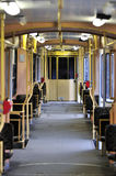 Articulated tram interior Stock Photos