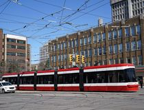 Articulated tram Royalty Free Stock Image