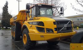 Articulated Volvo Dump truck Stock Images