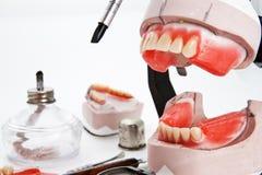 Articulator dentale del laboratorio, strumentazioni per la protesi dentaria Immagine Stock