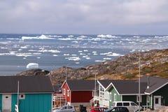 Artide Groenlandia del ghiaccio galleggiante fotografia stock