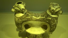 Artifacts, Treasures, Archeology. Stock video of Colombian artifacts stock footage
