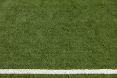 Artificial Lawn & White Stripe Stock Photo