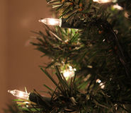 Artifical Christmas Tree Lights Royalty Free Stock Photography