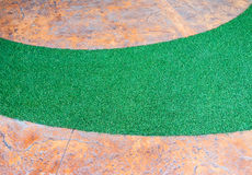 Artifical grass curve Royalty Free Stock Photos