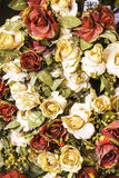 Artifical rose flowers  background Stock Photography
