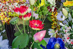 Artifical roses and lotus on sale Royalty Free Stock Photography