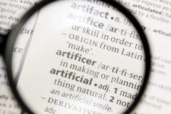 Artificer λέξη ή φράση σε ένα λεξικό στοκ φωτογραφία με δικαίωμα ελεύθερης χρήσης