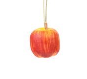 Artificial apple for christmas tree. Royalty Free Stock Images