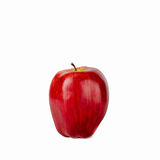 Artificial apple. Artificial red apple isolated on white background Stock Photo