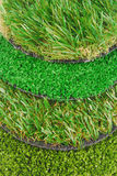 Artificial astro turf grass  samples Royalty Free Stock Photography