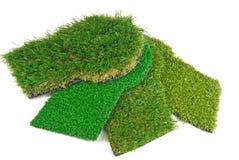 Artificial Astroturf Grass Samples Stock Photos