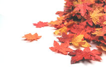 Artificial autumn leaves Stock Photo