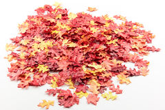 Artificial autumn leaves on a pile Royalty Free Stock Image