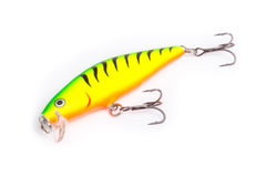 Artificial bait for fishing on white background. Stock Images