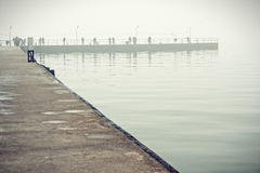 Artificial bay in Azov sea Stock Photography