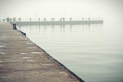 Artificial bay in Azov sea Stock Photography
