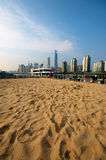 Artificial Beach in Shanghai Royalty Free Stock Image