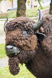 Artificial bison Royalty Free Stock Images