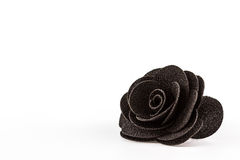Artificial black flowers made from cloth. Stock Photography