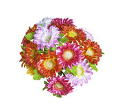 Artificial  bouguet flowers isolated. On white background Royalty Free Stock Images