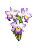 Artificial bouquet orchid flower isolated Royalty Free Stock Photo
