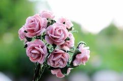 Artificial bouquet of roses Stock Photos